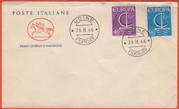 ITALIA - REPUBBLICA ITALIANA - 1966 - Europa Cept - FDC - Cavallino - FDC
