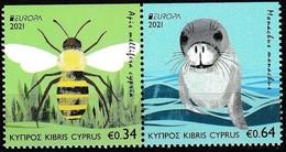 Europa Cept - 2021 - Cyprus, Zypren - From Booklet * Upside Imp. ** MNH - 2020