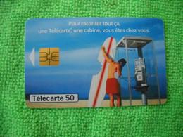 7114 Télécarte Collection CABINE Téléphone  France Télécom  Planche Surf     50u  ( Recto Verso)  Carte Téléphonique - Telefoni