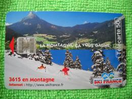 7119 Télécarte Collection 3615 En Montagne Ski Neige SKI FRANCE  50u  ( Recto Verso)  Carte Téléphonique - Montagne