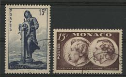 MONACO N° 351 + 352 Cote 17,40 € Oblitérés. - Oblitérés
