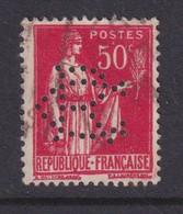 Perforé/perfin/lochung France No 283 CR La Marquise De Sévigné - Chocolat De Royat - Gezähnt (Perforiert/Gezähnt)