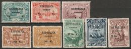 Portuguese Congo 1913 Sc 91-8  Set Most MH* - Portugiesisch-Kongo