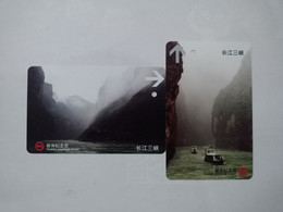 China Transport Cards,Three Gorges Of The Yangtze River, Metro Card, Shanghai City, (2pcs) - Unclassified