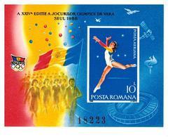 ROMANIA 1988 SEUL POSTA AEREA FOGLIETTO MNH** BF 247 - Blocks & Kleinbögen
