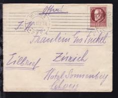König Ludwig III 50 Pfg. Auf Eilbrief Ab München 16.1.17 Nach Zürich/Schweiz,  - Bavaria