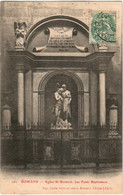 41hx 1124 CPA - ROMANS - EGLISE ST BERNARD - LES FONTS BAPTISMAUX - Romans Sur Isere