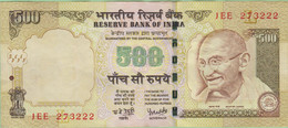 Inde - Billet De 500 Rupees - Mahatma Gandhi - 2008 - P99 - India