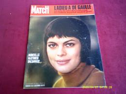 PARIS MATCH  N°  1126  //  5 DECEMBRE 1970   COUVERTURE  MIREILLE MATHIEU - Musique