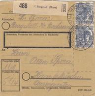 BiZone Paketkarte 1948: Burgstall Kr. Backnang Nach Haar - American,British And Russian Zone