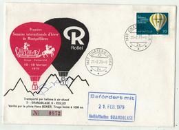 Montgolfières // 1ère Semaine De Ballon à Air Chaud  à Château D'Oex 21.02.1979 (tirage 1000ex.) - Mongolfiere