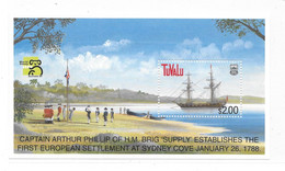 Tuvalu 1999 Australia World Stamp Expo Maritime History S/S MNH - Tuvalu