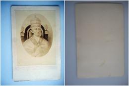 PHOTO GRAND CDV 19 EME PAPE LEON III - Ancianas (antes De 1900)
