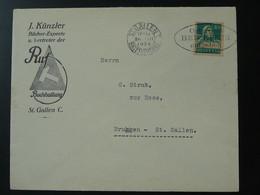 Lettre Cover Flamme Postmark Osterpost Beizeiten St-Gallen Suisse Switzerland 1929 - Briefe U. Dokumente