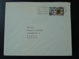 750 Jahre Bern Sur Lettre On Cover Flamme Postmark Basel Suisse Switzerland 1941 (ex 1) - Cartas