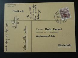 Oblitération Postmark Unteriberg Suisse Switzerland 1942 - Storia Postale