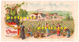 30 Beaucaire  Domaine De La Bastide Veuve  Abadie (dépliant Tarif) - Beaucaire