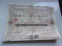 HOTELS ILE DE FRANCE (bordeaux GIRONDE) - Unclassified