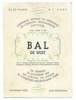 Paris, Hotel De Rohan. Bal De Nuit De L'entraide Sociale Du Personnel De L'Institut Géographique National (I.G.N.) (A.S) - Distretto: 07
