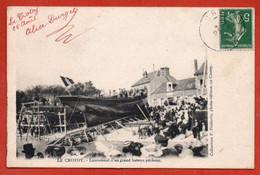 Le Crotoy. - Lancement D'un Grand Bâteau Pêcheur - Le Crotoy