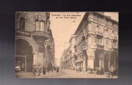 ITALIA - CARTOLINA - TORINO - Via XX Settembre - Sartoria - Farmacia - Otros Monumentos Y Edificios