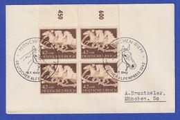 Deutsches Reich Mi.-Nr. 815 Rand-Viererblock Mit So-O MÜNCHEN-RIEM Auf Umschlag - Ohne Zuordnung
