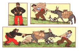 "CPM - ILLUSTRATION Dessin A-O.HUET-HUMEAU - ""Gendarme Et Contrebandier"" ( Ânes)  ... Edition De L'artiste - Other Illustrators"