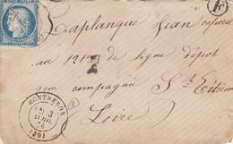 LETTRE CLASSIQUE.  MONTBERON (30) BOITE RURALE F Non Identifiée - 1849-1876: Klassik