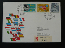 FDC Recommandée Registered Europa 1967 Suisse Switzerland - FDC