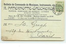 GAND - 11 Rue Aux Vaches - R. Paternotte-Gaucheron - Editeur Marchand De Musique - Luthier - Gent
