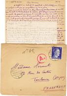 COURRIER STO ALLEMAGNE AVEC CONTENU BIELEFELD DECEMBRE 43 - Oorlog 1939-45