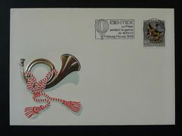 Lettre Cover Flamme La Poste Pendant La Guerre De 1870 Ballon Monté Fribourg Suisse Switzerland 1970 - Montgolfier