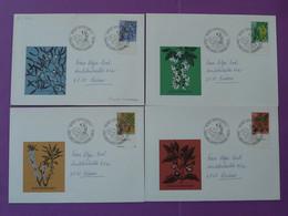 Série Pro Juventute Sur 4 Lettres Covers Tag Der Briefmarke Appenzell Suisse Switzerland 1974 - Lettres & Documents