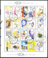 België BL83 - 20ste Eeuw In 80 Postzegels - Deel 1 - Kennedy - Gandhi - Mandela - Kuifje - Tintin  Gestempeld - Oblitéré - Blokken 1962-....