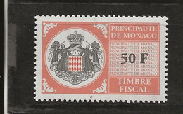 TIMBRES FISCAUX DE MONACO SERIE UNIFIEE N° 106   50F Brun Jaune Neuf (**) - Revenue