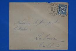 T26 MAROC BELLE LETTRE 1921 CASABLANCA POUR PARIS FRANCE + AFFRANCHISSEMENT INTERESSANT - Lettres & Documents
