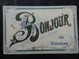 Verviers - Un Bonjour De Verviers - Circulée - Etat: Voir 2 Scans - Verviers