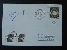 Timbre Europa Suisse Sur Lettre Non Valide En France 68 Hesingue Bas Rhin 1977 - Poststempel