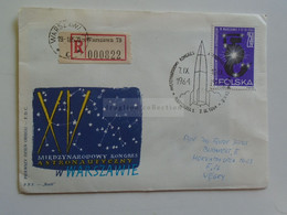 D179636 POLSKA  Poland - FDC Registered Cover 1964-  Cancel 1965 Warszawa  Sent To Hungary  -Astronauts  Mermaid Stamp ? - Lettres & Documents
