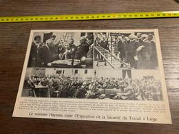 1928 PATI Ministre Heyman à L Exposition De La Sécurité Du Travail à Liège Abbé Cardyn - Zonder Classificatie