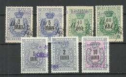 DENMARK Dänemark  Lot Stempelmarken Documentary Stamps Tax Revenue O - Steuermarken