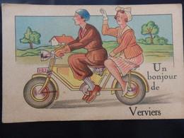 Verviers - Un Bonjour De Verviers - Moto - 2 Scans - Verviers