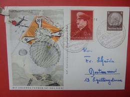 """3eme REICH 1944 """"Geburstag Adolf Hitler"""" (1 Coin Abimé !) - Cartas"""
