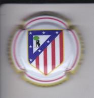PLACA DE CAVA DE FUTBOL DE EL ESCUDO DEL ATLETICO DE MADRID (CAPSULE) FOOTBALL - Schuimwijn