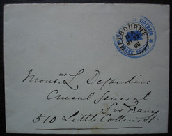 1899 Cover From Melbourne, Franked With The Frank Stamp Of The Governor Of Victoria - Cartas