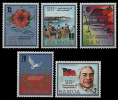 Samoa 1987 - Mi-Nr. 607-611 ** - MNH - Unabhängigkeit / Independence - Amerikanisch-Samoa