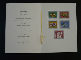 Encart PTT Folder Minéraux Minerals Série Pro Patria Suisse Switzerland 1958 - Minerali
