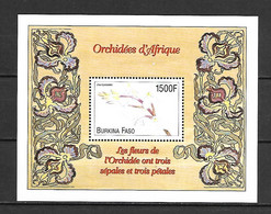 Burkina Faso 2000 Flowers - Orchids #2 MS MNH - Other