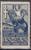 COLONIES GENERALES : FRANCE COMBATTANTE N° 65a NEUVE ** GOMME SANS CHARNIERE - Autres