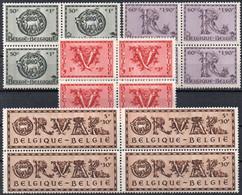ORVAL - N° 625-626-627-630 XX En Blocs De 4 - Unused Stamps
